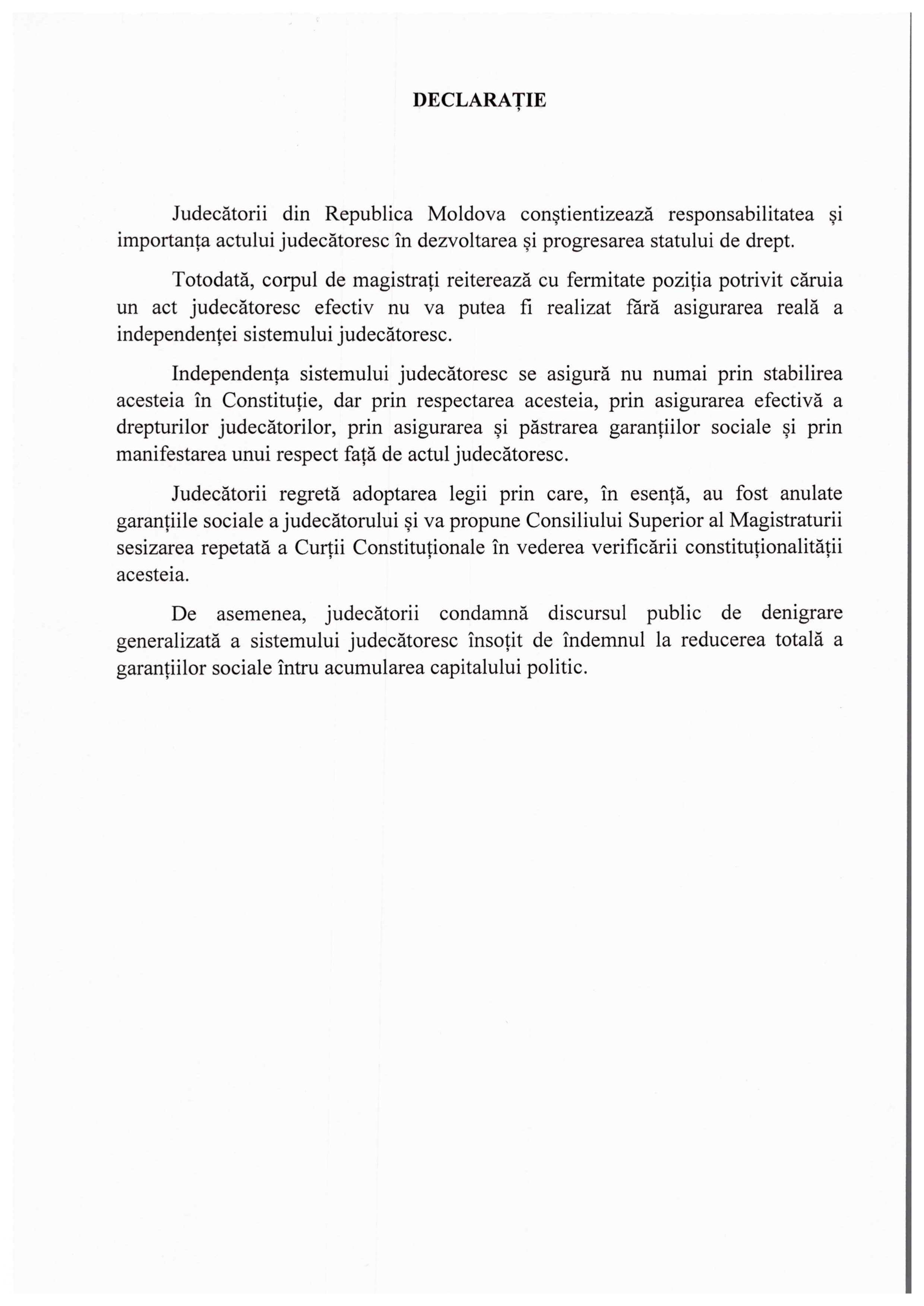 Declarație